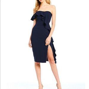 Gianni Bini One Shoulder Cascading Dress